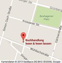 Die Friedrichshainer Buchhandlung in zwischen RAW und Boxhagener Platz