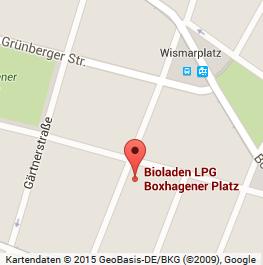Der Bio- und Naturkostladen LPG ist nur eine Querstraße vom Boxhagener Platz entfernt