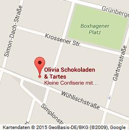 Das kleine französische Schoko-Laden-Café in der Nähe vom Boxhagener Platz